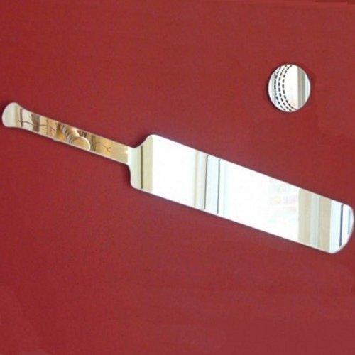 Super Cool Creations Cricket Bat Spiegel-60cm x 14cm & 13cm Cricket Ball