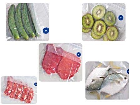 YISAMA Beutel zur Vakuumverpackung von Lebensmitteln, Hand Vakuumierer Beutel, Lebensmittel Vakuumbeutee, Sous Vide Taschen Kit, BPA Frei, Essen Erhaltung Vakuum, Hält das Essen für Frisch, Früchten, Fleisch (x 20) (28X30 CM)
