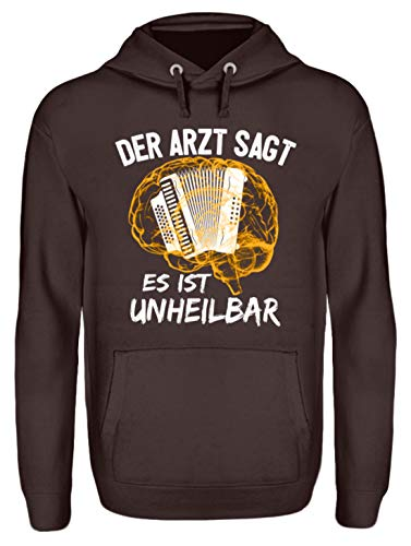 Akkordeon Shirt · Musiker · Zieharmonika · Musikinstrument · Musikverein · Hobby · lustig · Spruch · Pulli · Jacke · Hoodie · T-Shirt · Geschenk - Unisex Kapuzenpullover Hoodie -S-Schokolade