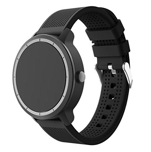 Garmin Vivoactive 3 Correa, SUPORE Correa de reloj de silicona suave y...