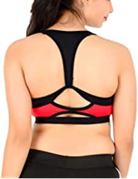 4ee4c74d896e7 Galani®Padded Sports Bra for Women Padded Bra for Sports Gym Yoga Dancing  Workout Aerobic Running Jogging Crepe Silk Bra Free Size (30 to 36)…