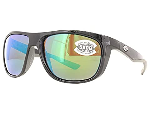 Costa Kiwa Sunglasses Shiny Black / Green Mirror 580G