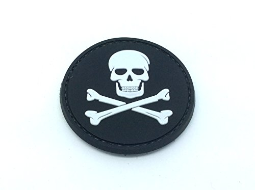 Jolly Roger Skull & Crossbones PVC Airsoft Patch Patch Nation