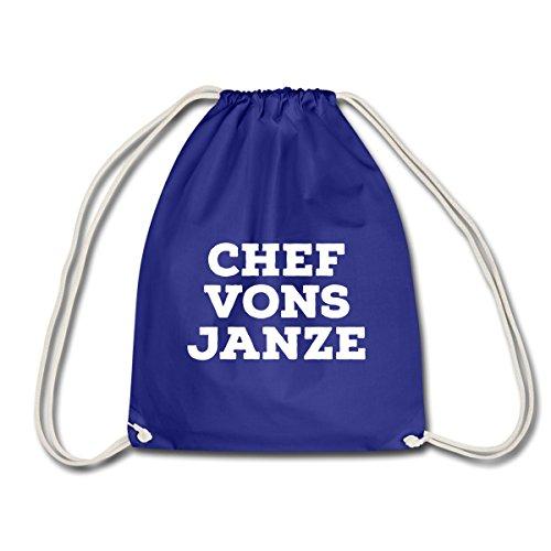 Spreadshirt Berliner Dialekt Chef Vons Janze Turnbeutel, Königsblau