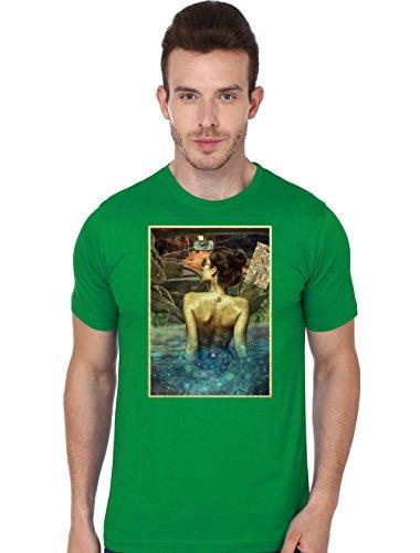 Beyond Colours Men T-Shirt Lets Chill Green Medium