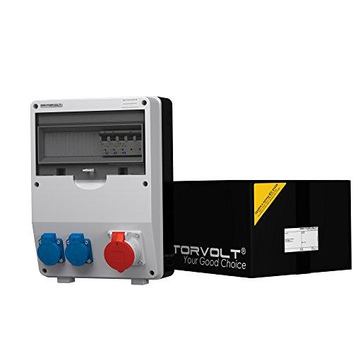 Preisvergleich Produktbild Stromverteiler TD-S 1x16A 2x230V Wandverteiler Steckdosenverteiler Baustromverteiler 6756