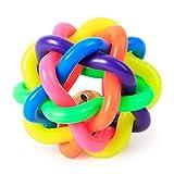 Nikgic Sieben-Farben-Hund Spielzeug Niedlich Super Kleine Glocke Ball Spielzeug Hochwertige Kunststoff Biss Hund Haustier Spielzeug Hund Reinigung Zähne Spielzeug
