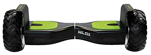 Nilox - Hoverboard off road, negro-verde