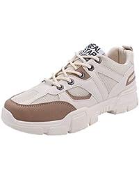 LHWY Zapatillas Mocasines de Deportes Moda Hombre con Cordones de Colores Mezclados Mocasines Zapatillas de Deporte Casuales Zapatos Deportivos