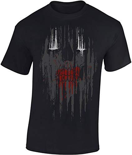 T-Shirt: Zombie Skull - Halloween Shirt Herren Damen - Mann Männer Frau-en - Fantasy Horror Kino - Maske - Totenkopf - USA - Geschenk Gamer - Zombie Apocalypse - Streetwear - Dead (L)