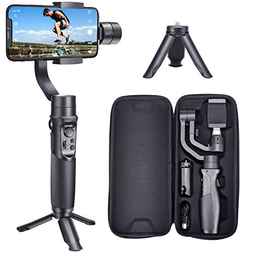 Hohem Smartphone Gimbal 3 Achsen Handy Stabilisator bis zu 280g für iPhone 11/11 pro/11 pro max/XS/XS Max, Samsung S10/S9, Huawei P30/Mate 30, for Vlogger (iSteady Mobile Plus)