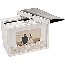 Caja para almacenar y mostrar fotografías de boda, diseño vintage, para 80 fotografías, 1 pack