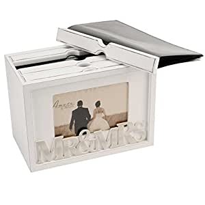 Vintage 80 Photo Box Album Photo Display Case Frame Wedding