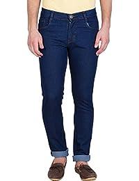[Sponsored]Stylox Men's Regular Slim Fit Dark Blue Jeans