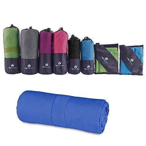 Serviette Microfibre - Drap de Bain pour Voyage et Fitness Séchage Rapide - Serviette de Plage pour Femme Homme et Enfants - Serviettes de Sport pour la Piscine, Gym, Camping, Yoga et Salle de Sport