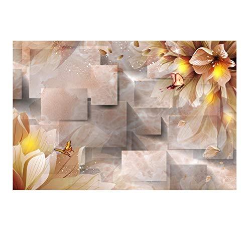 Wkjhdfgb blackout 3d tende camera da letto camera da letto ufficio fantasia fiore farfalla motivo geometrico tende personalizzate 215x320cm