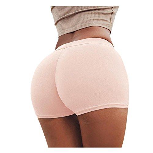 VENMO Sommerhosen Frauen Sport Shorts Gymnastik Workout Bund Skinny Yoga kurze Hosen Strumpfhosen Jogginghose Leggings Shorts Bandage Hosenrock Sommer Sporthosen Mini Shorts (Sexy Pink, S)