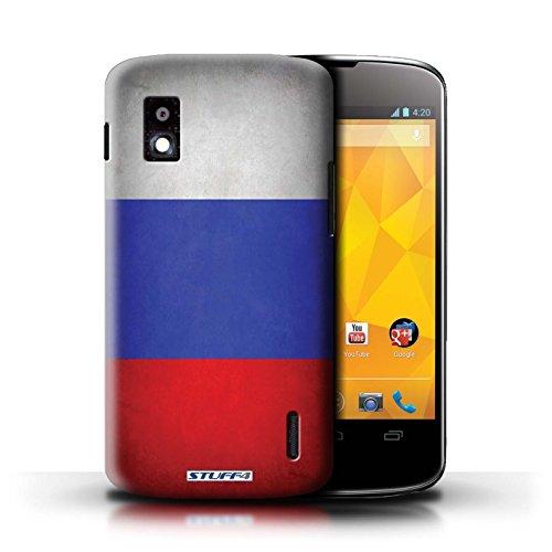 Kobalt® Imprimé Etui / Coque pour LG Nexus 4/E960 / Honduras conception / Série Drapeau Russie