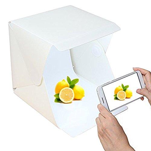 Galleria fotografica Mini pieghevole Studio fotografico tenda, fotografico portatile Studio con luce LED Bianco e Nero Sfondo