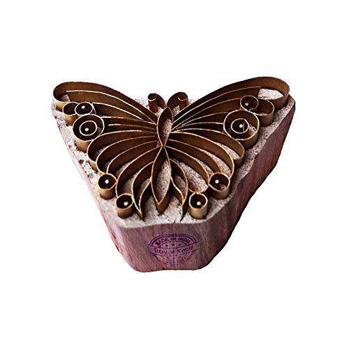 Keramik-block (Royal Kraft Retro Drucken Stempel Messing Schmetterling Designs Hölz Keramik Blöcke)