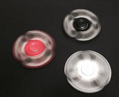 YI Fidget Hand Spinner, Toy Great Gift (Trei Hand Spinner) Black
