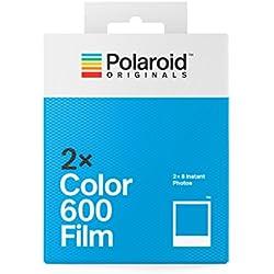 Polaroid Originals 4841 Double Pack Color 600 Film pour Appareil Polaroid 600, Cadre Blanc Classique, 2 Paquets de Film photo
