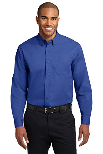kectelly Port Authority – Camicia a maniche lunghe, di facile manutenzione 3Royal/ Classic Navy