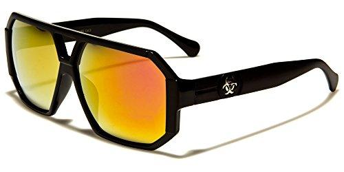 Biohazard Aviator quadrato moda uomo donna Unisex occhiali da sole di sport di guida UV400Free beachhutsunglasses Astuccio Incluso arancione BLACK FRAME/ORANGE MIRROR LENSES