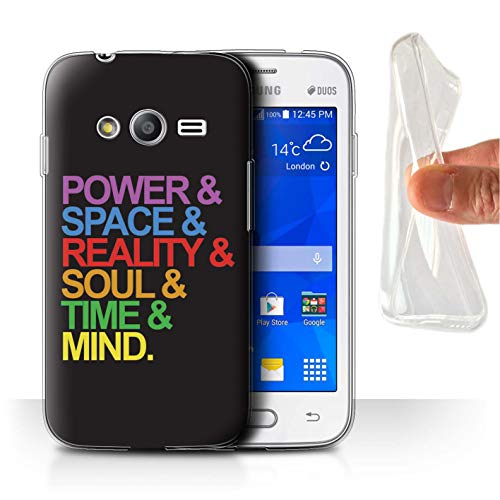 W3Tech Coque Gel TPU/Coque pour Samsung Galaxy Trend 2 Lite/G318 / Six Pierres Design/Film Super-Héros Citations Art Collection