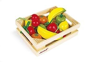 Janod J05610 - Obstkiste, 12 Früchte