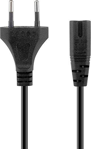 Speedlink WYRE XE Power Cable - Netzkabel für die Playstation 3 und 4 (bis zu 250V - höchste Sicherheit - Euro-Stecker auf Kleingerätestecker) für Gaming/Konsole/PS3/PS4, schwarz (Ps4 Ac-netzkabel)