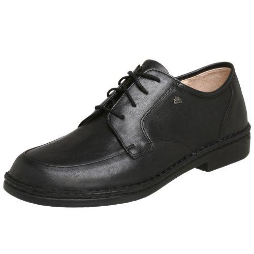 Finn Comfort Mens Hilversum Leather Shoes Noir