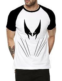 Fanideaz Cotton Wolverine X-Men Claws Half Sleeve Raglan T Shirt For Men
