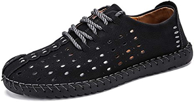 Esthesis Hombre Verano Mocasines de Cuero Genuino Mocasines Zapatos de Conducción Respirables