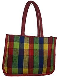 DSK Enterprise Jute Multi Color 11.5L*15w+4inch Box Eco Friendly Jute Bag (DSKE-10)