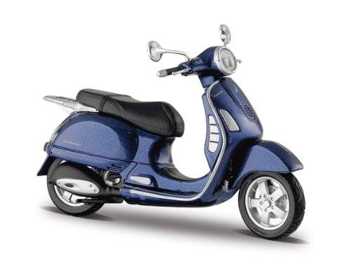 Preisvergleich Produktbild Vespa Granturismo (2003) blau, Maisto Motorrad Roller Modell 1:18