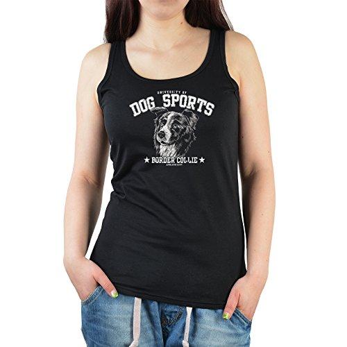 Damen Tank Top: Dog Sports - Border Collie - Top Geschenk oder Mitbringsel für jeden Anlass. Hundefreunde - schwarz -