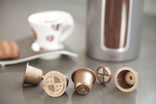 Preisvergleich Produktbild Coffeeduck - 3 permanents refillable capsules universal for Nespresso machine by CoffeeDuck