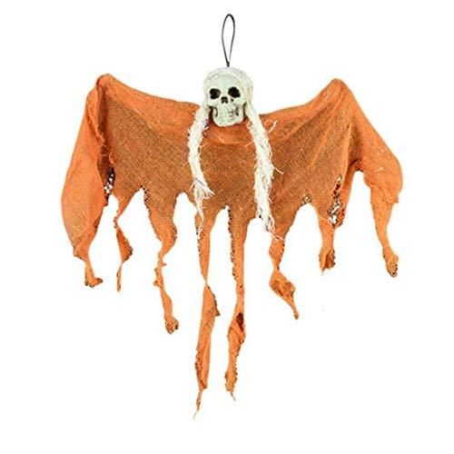 qucaojun Horror Spooky Hängende Anhänger Dekoration Haunted House Schädel Geist Requisiten DIY Halloween Party Ornamente Für Home Theme Bar