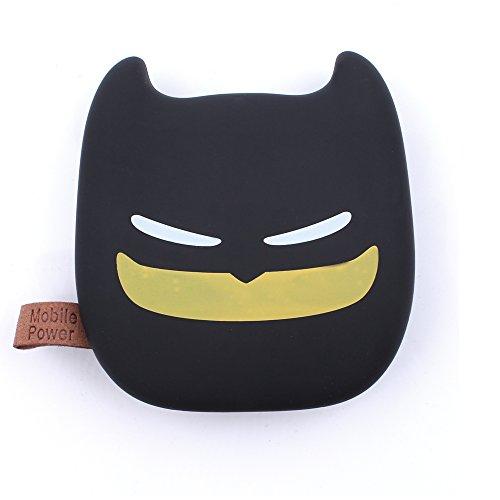 iprotect Emoji - Powerbank 4500 mAh Externes Ladegerät im Ninja-Katzen-Design für Smartphones und andere Geräte mit USB-Anschluss - inklusive Micro USB-Ladekabel