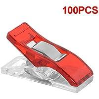 XCSOURCE 100pcs clip di plastica morsetto patchwork cucito fai da te Craft Quilt Binding (Red) HS393