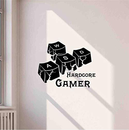 Pbbzl Gaming Controller Gamer Ideen Vinyl Aufkleber Wohnzimmer Spielzimmer Home Schlafzimmer Wandtattoos Wohnkultur Wandaufkleber 58X73 Cm
