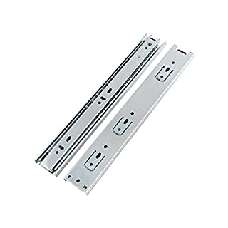 DJM Direct 2pairs Double Fully Extension Ball Bearing Drawer Slide Runners Heavy Duty (24