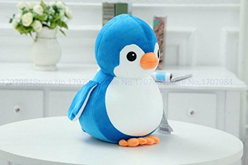 NB Phoenix Penguin Soft Toy 30cm, Cute Plush Kids Animal Toy (Blue)