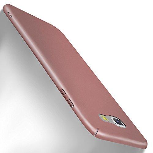 MoEx Samsung Galaxy A5 (2017) Hülle Rose-Gold OneFlow Alpha Back-Cover TPU Schutzhülle Dünn Handyhülle für Samsung Galaxy A5 2017 Case Ultra-Slim Thin Skin Handy Schutz Rückseite (Hard Pink Gummi)
