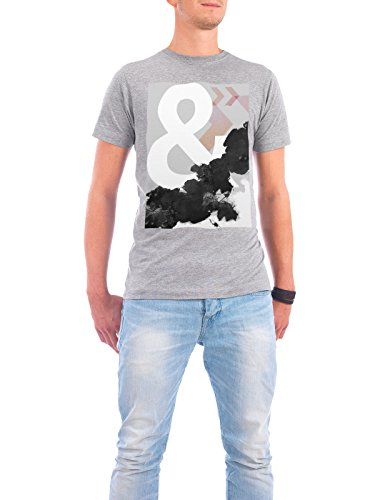 "Design T-Shirt Männer Continental Cotton ""Abstract Ampersand"" - stylisches Shirt Abstrakt von Linsay Macdonald Grau"