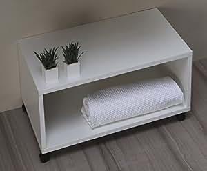 Mobile bagno panca arredo bagno con rotelle da cm 65 for Arredo casa amazon