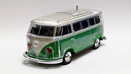 Bluetooth Box Bus mit LED - Crystal Car Speaker Multimedia Radio mit MircroSD Slot USB (Grün)