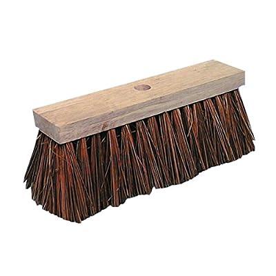 Straßenbesen Piassava 32 cm Flachholz mit Stielloch Hofbesen Stallbesen