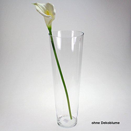Vase Glas Bodenvase Tischvase Glasvase groß Höhe 50cm D 17cm klar -